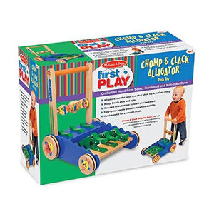 Melissa & Doug Deluxe Chomp and Clack Alligator push