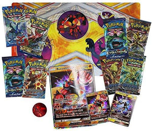 Pokemon Ultra Beasts GX Premium Collection Featuring Buzzwole and Xurkitree