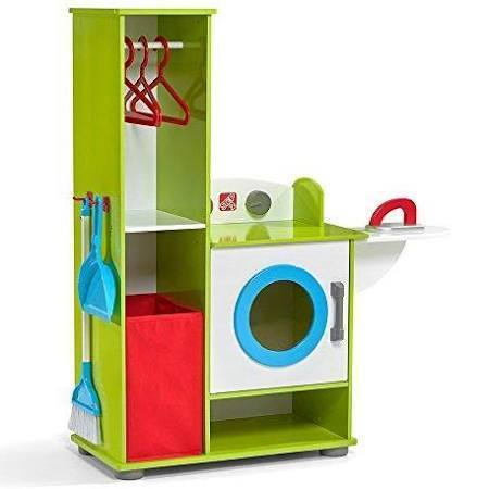 Step2 Housekeeping Toys Clean - Clean Sweep Wooden Laundry Center