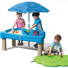 Step2 Cascading Cove Sand and Water Table with Cover, Blue