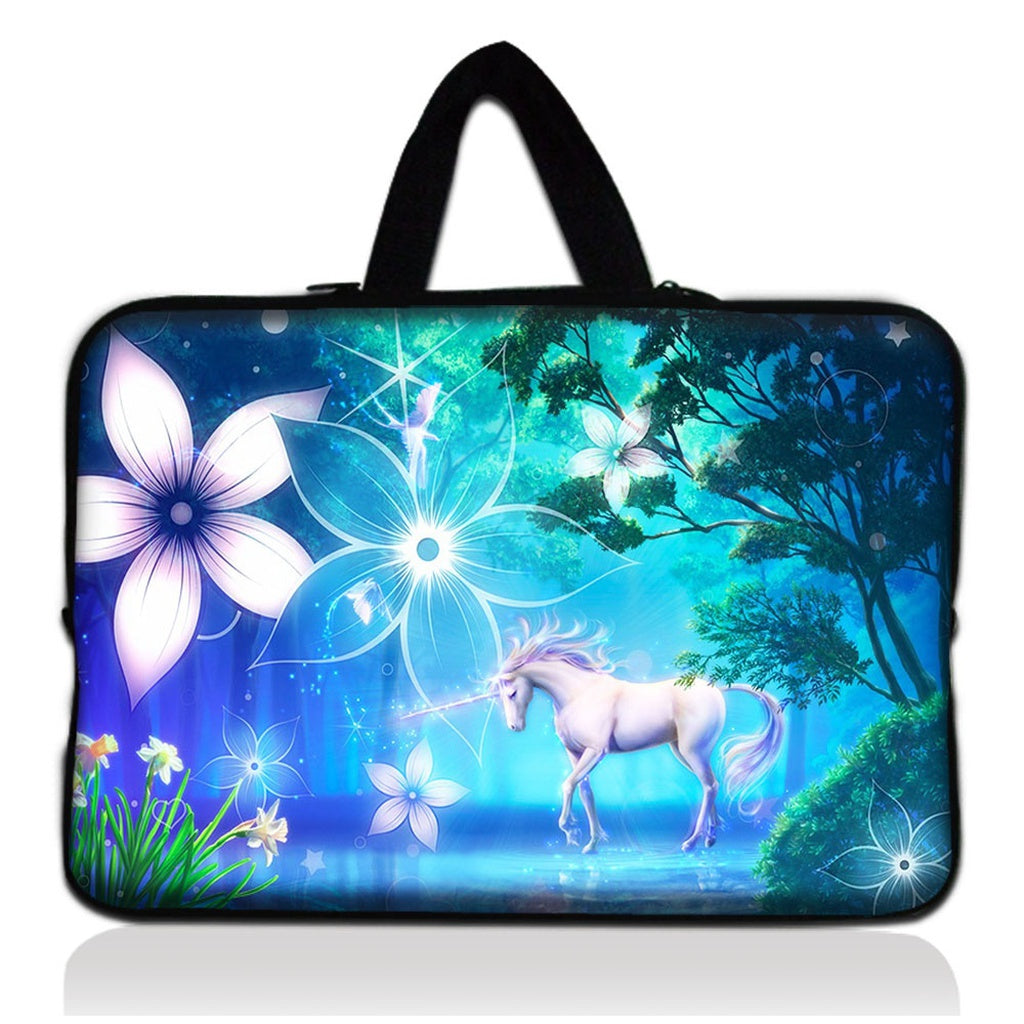 White unicorn Laptop Bag Carry Sleeve Pouch Case Cover For 7