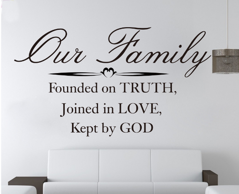 Our Family Founded On Truth Decal