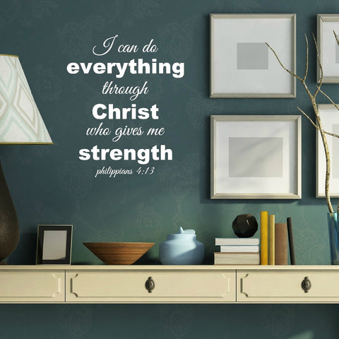 Phillippians 4:13 Wall Decal