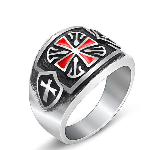 Red Jesus Cross Ring