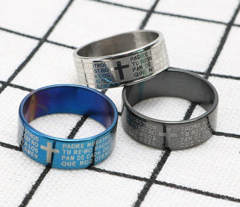 Stainless Steel Prayer Finger Rings