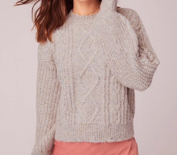 HELLA GOOD CABLE KNIT SWEATER