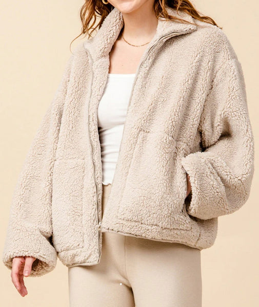 OVERSIZED SHERPA JACKET