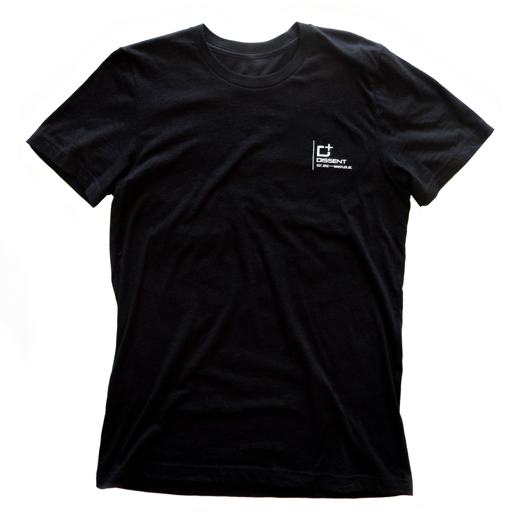 Dissent Badge Tee - Black Heather / White