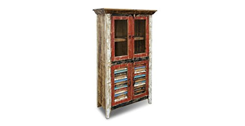Reclaimed Wood Glass Cabinet