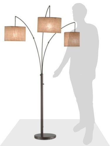 Trinity Arc Floor Lamp Antique Bronze Finish