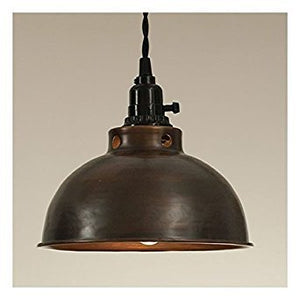 Dome Pendant Lamp in Aged Copper