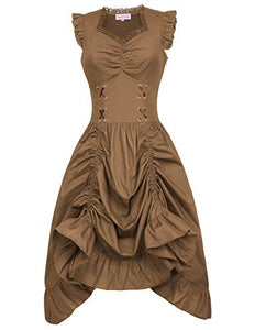 Steampunk Gothic Victorian Ruffled Dress