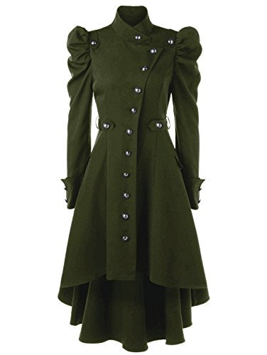 Steampunk Victorian Swallow Tail Long Trench Coat Jacket
