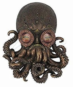 Steampunk Octopus Wall Plaque Sculpture,Bronze