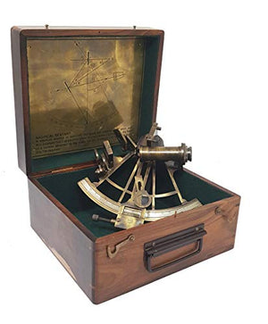 Marine Sextant in Hardwood Gift Box