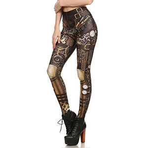 Print Polyester Gothic Trousers