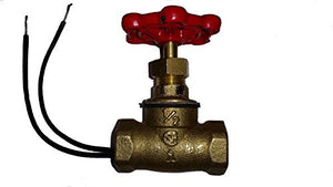 SW- 1/2 INCH RED HAND - VINTAGE STEAMPUNK STOP VALVE LIGHT SWITCH
