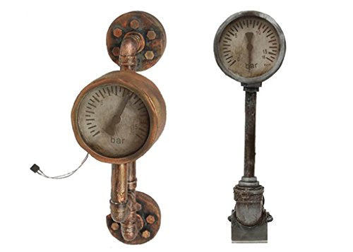 Steampunk Bundle Industrial Pipes and Guage with Light and Sound - 17 inch