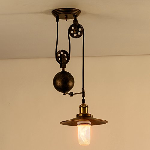 Pendant Light Industrial Pulley