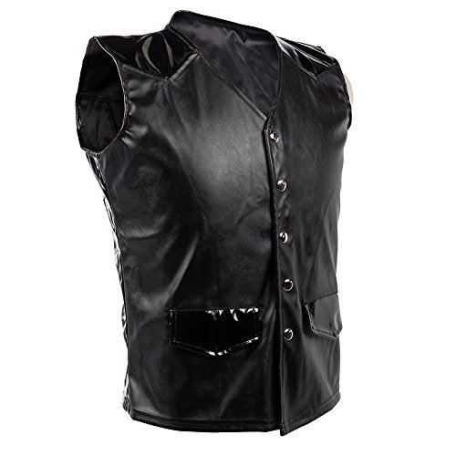 Mens Steampunk Faux Leather Cowboy Vest