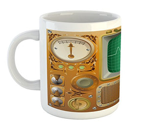 Steampunk TV Gauger Retro Mug