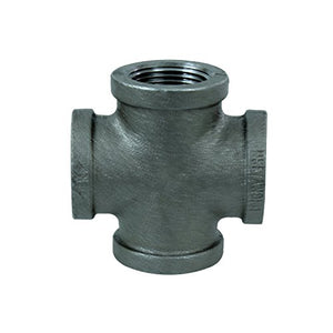 Black Malleable Cross Fitting, 1/2""