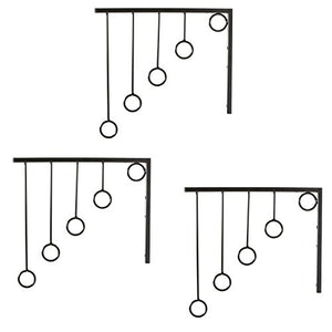 Wall Mounted Set of 3 Garment Racks