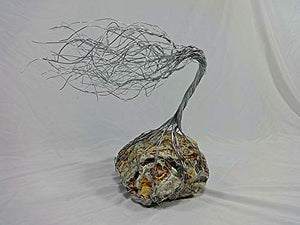 Silver Spirit Tree Metal Sculpture