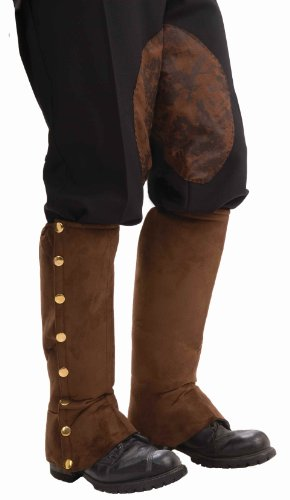 Steampunk Suede Spats Costume