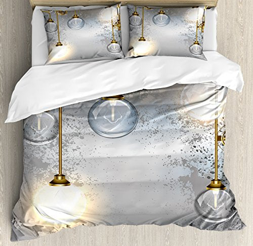 Industrial Decor Duvet Cover Set