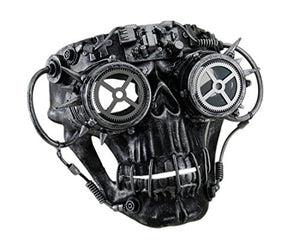 Steampunk Skull with Spiked Goggles Mask