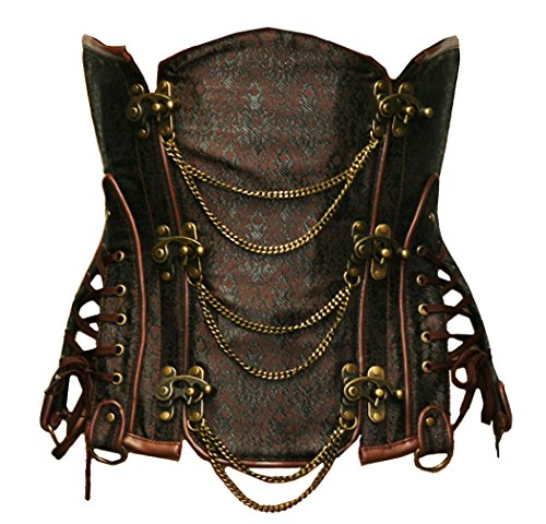 Leather Steel Boned Underbust Corset