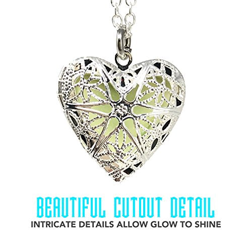 Steampunk Fairy Magical Glow in the Dark Heart