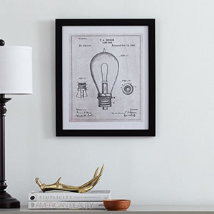 Black and White Print of 1890 Bulb