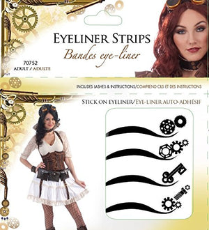 Forum Novelties Women's Steampunk Adhesive Eyeliner Strips Kit