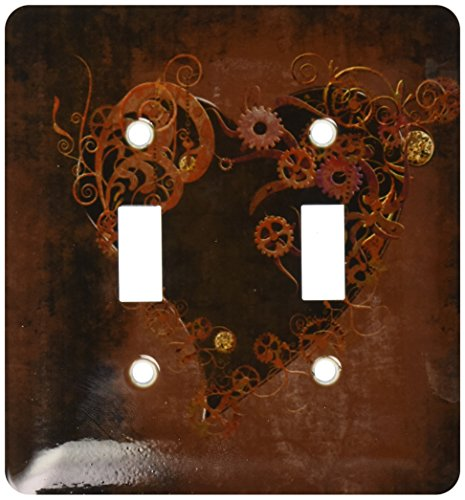 Steam Punk Heart Light Switch Cover
