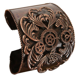 Steampunk Antique Copper Bracelet