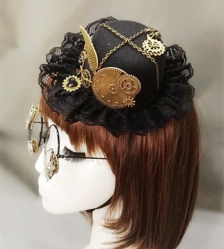 Dark Forest Witches Steampunk Hat