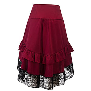 Steampunk Victorian Goth Lace Skirt