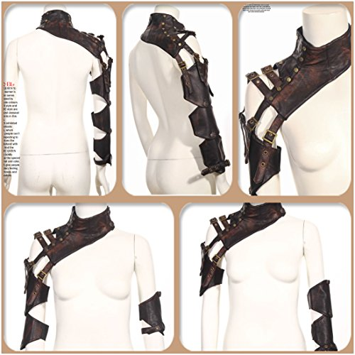 Steampunk VTG Retro leather arm warmer