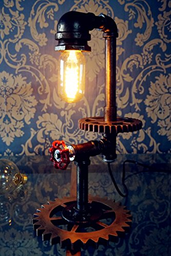 "Loft Style Vintage Metal Dimmable Table Lamp ""Shawn"""