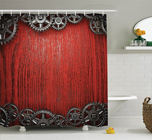 Industrial Design Shower Curtain Set