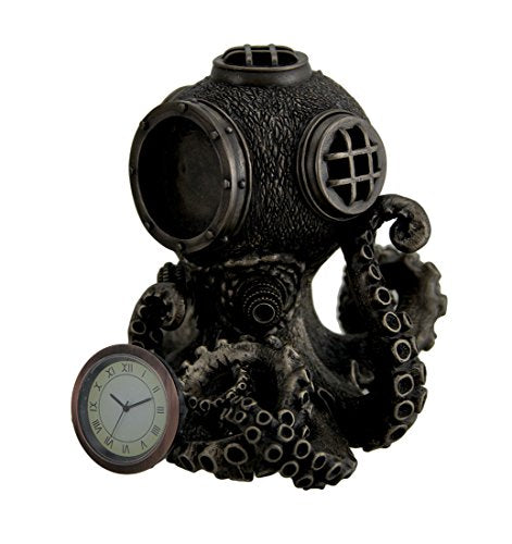 Steampunk Octopus Diving Bell Clock