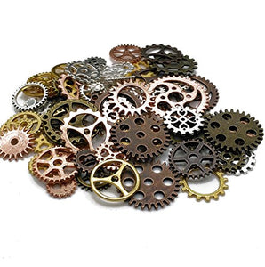 DIY Assorted Color Antique Metal Steampunk Gears