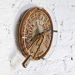 Engine order telegraph with moving handle unique wooden wall clock