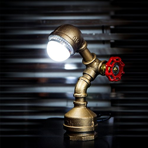 "Loft Style Vintage Metal LED Table Lamp ""Alfred"""