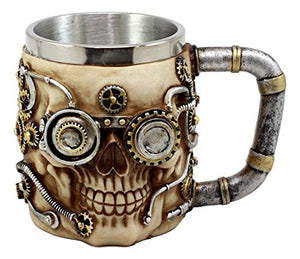 Steampunk Skull Coffee Mug