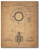 Tesla Patent Wall Art Prints - Set of Six