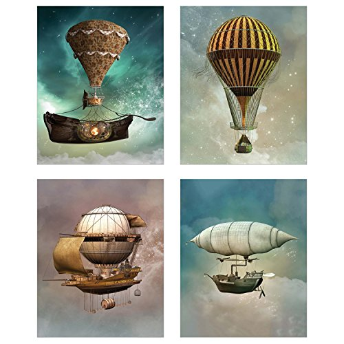 Steampunk Airship Fantasy Prints