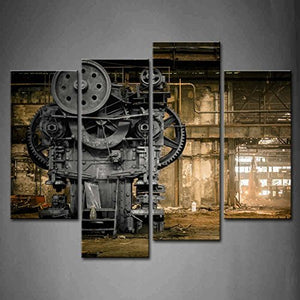 Old Factory Print On Canvas